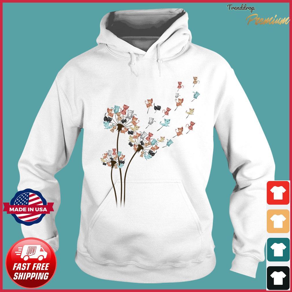 Dandelion Cats Flower Shirt Hoodie