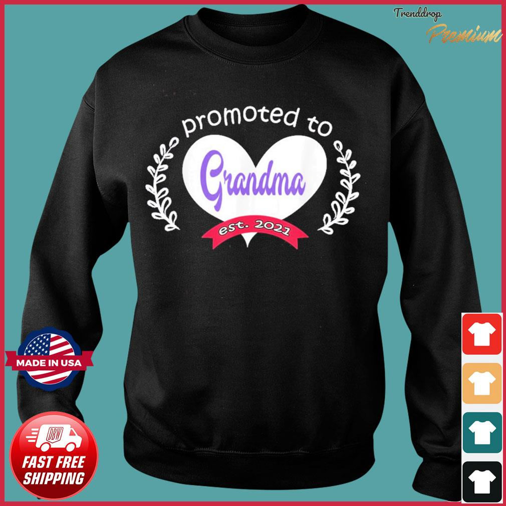 Promoted To Grandma Est 2021 Mothers Day Gift For Grandma T-s Sweater