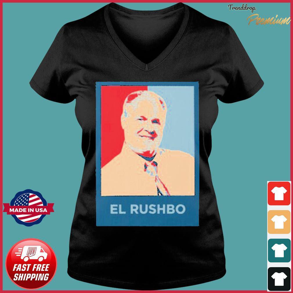 Rush Limbaugh El Rushbo Shirt Ladies V-neck Tee