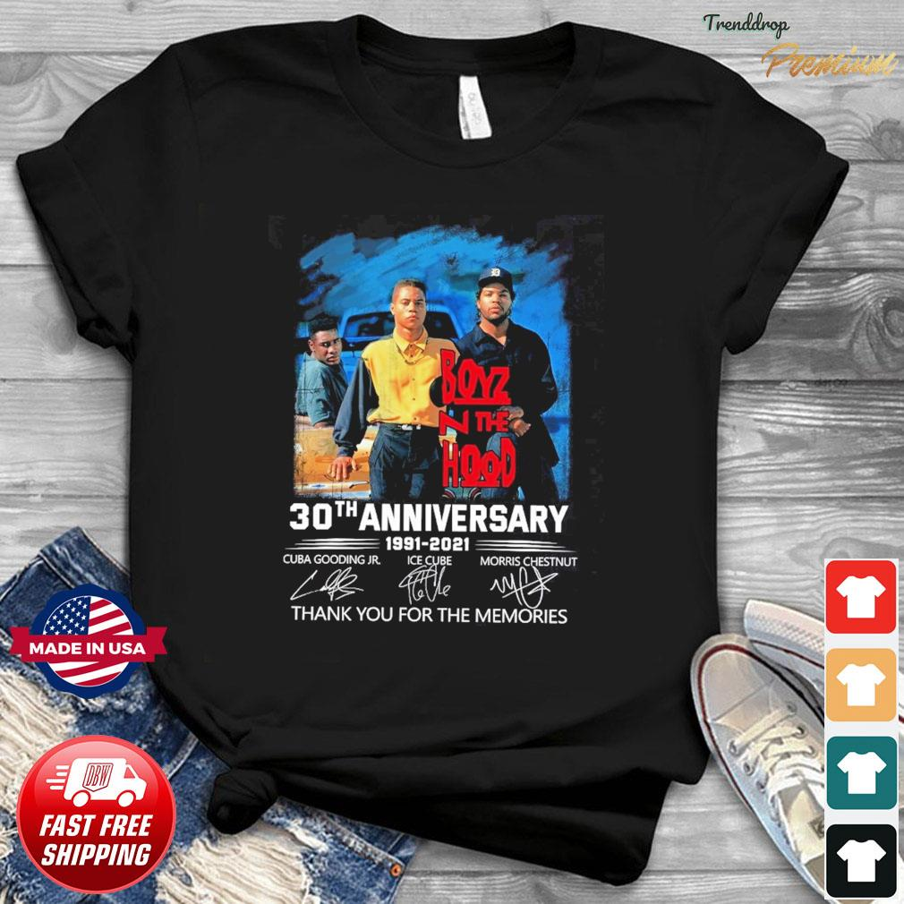 Boyz N The Hood 30th Anniversary 1991 2021 Signatures Thank You For The Memories Shirt