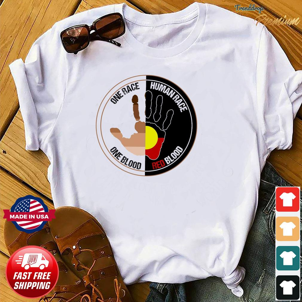 Official One Race Human Race One Blood And Red Blood Shirt