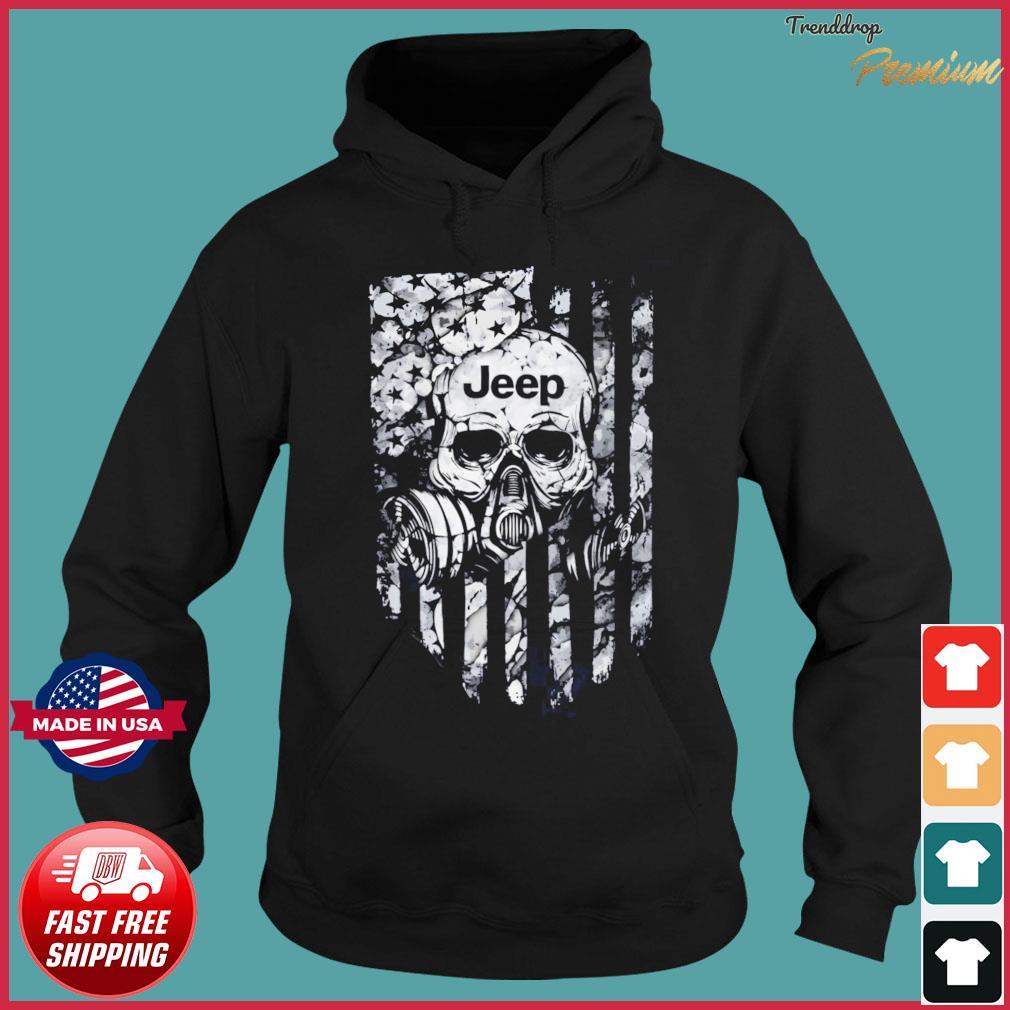Skull Jeep American Flag Shirt Hoodie