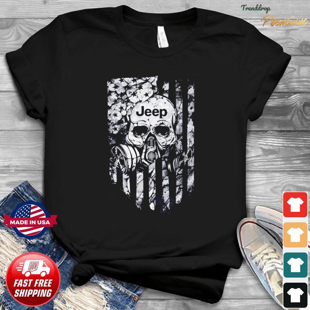 Skull Jeep American Flag Shirt
