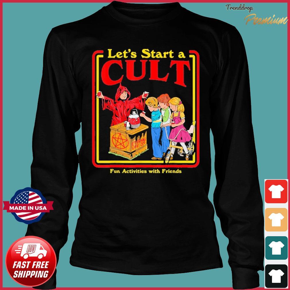 Let's Start a Cult Satanic Vintage Horror Edgy Shirt Long Sleeve