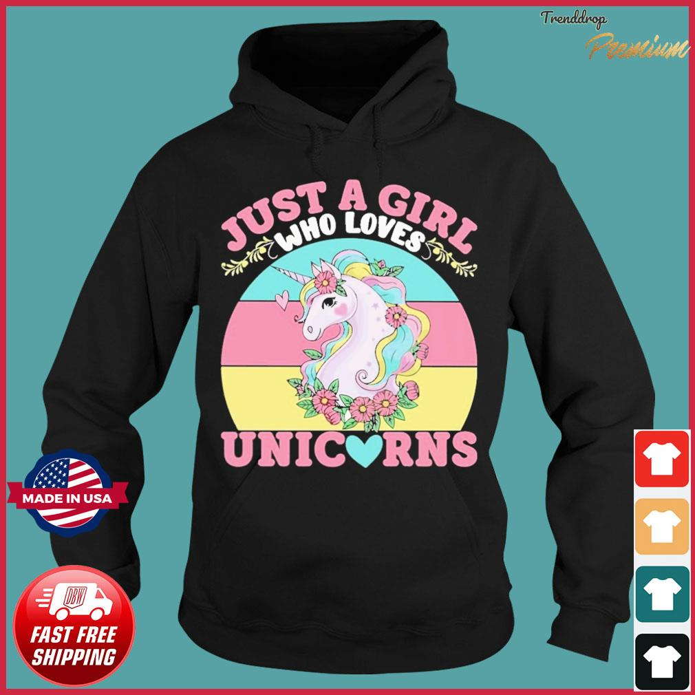Official Just A Girl Who Loves Unicorn Happy Mother's Day Vintage Shirt Hoodie