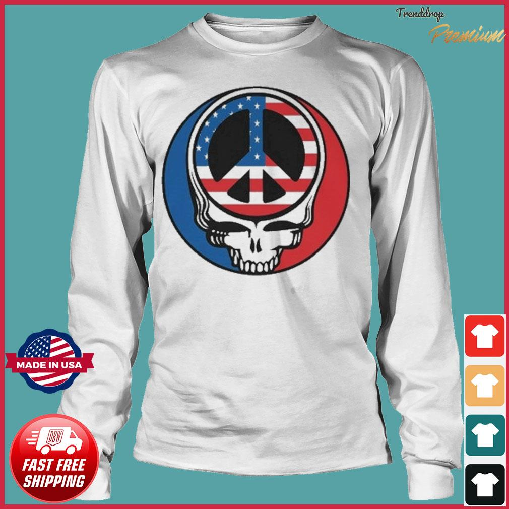 Official Peace Grateful Dead Steal Your Face American Flag Shirt Long Sleeve