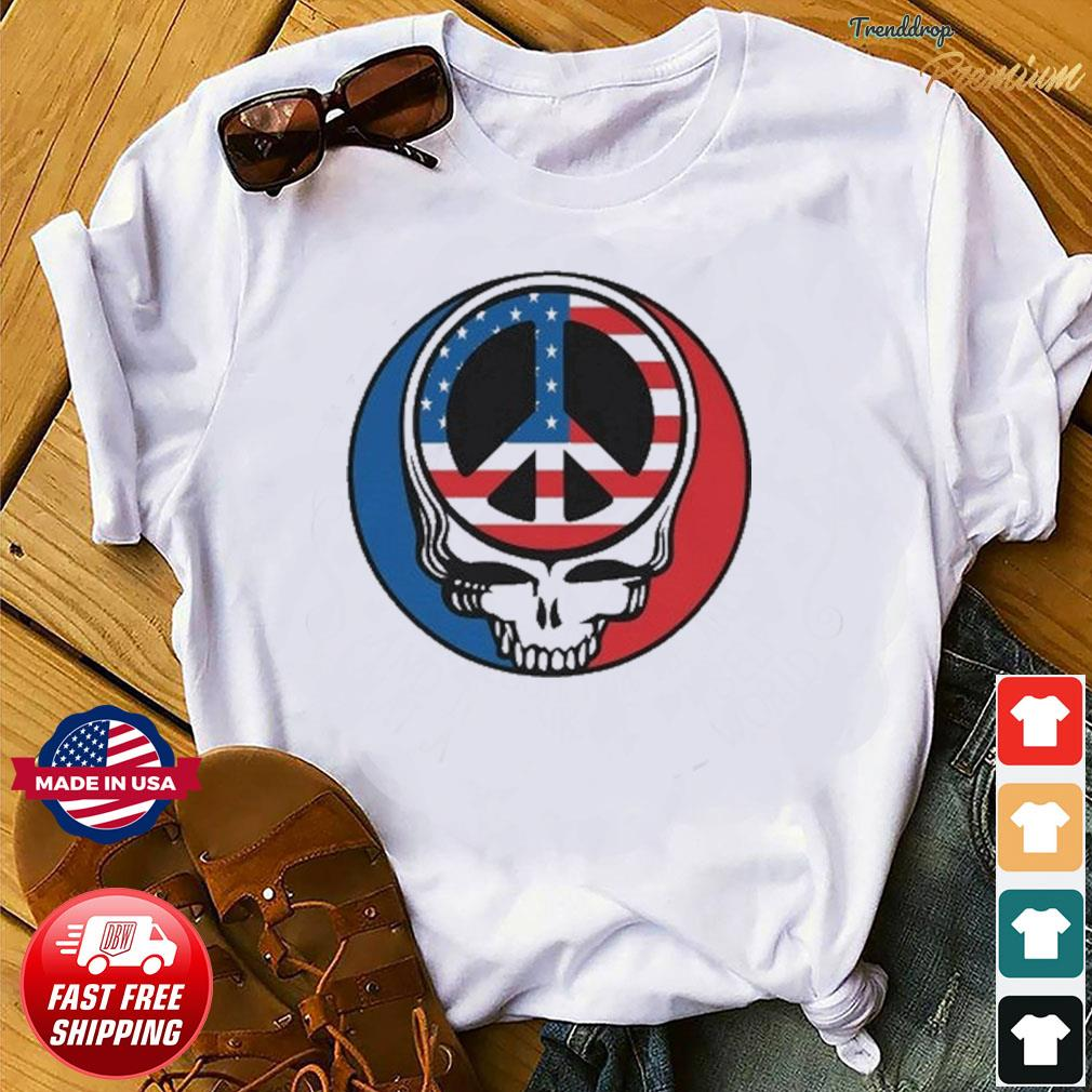 Official Peace Grateful Dead Steal Your Face American Flag Shirt