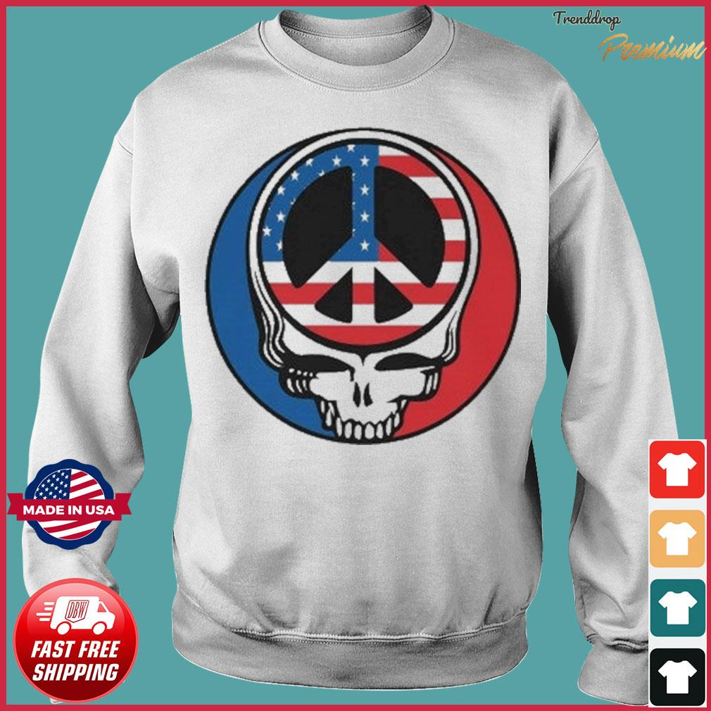 Official Peace Grateful Dead Steal Your Face American Flag Shirt Sweater