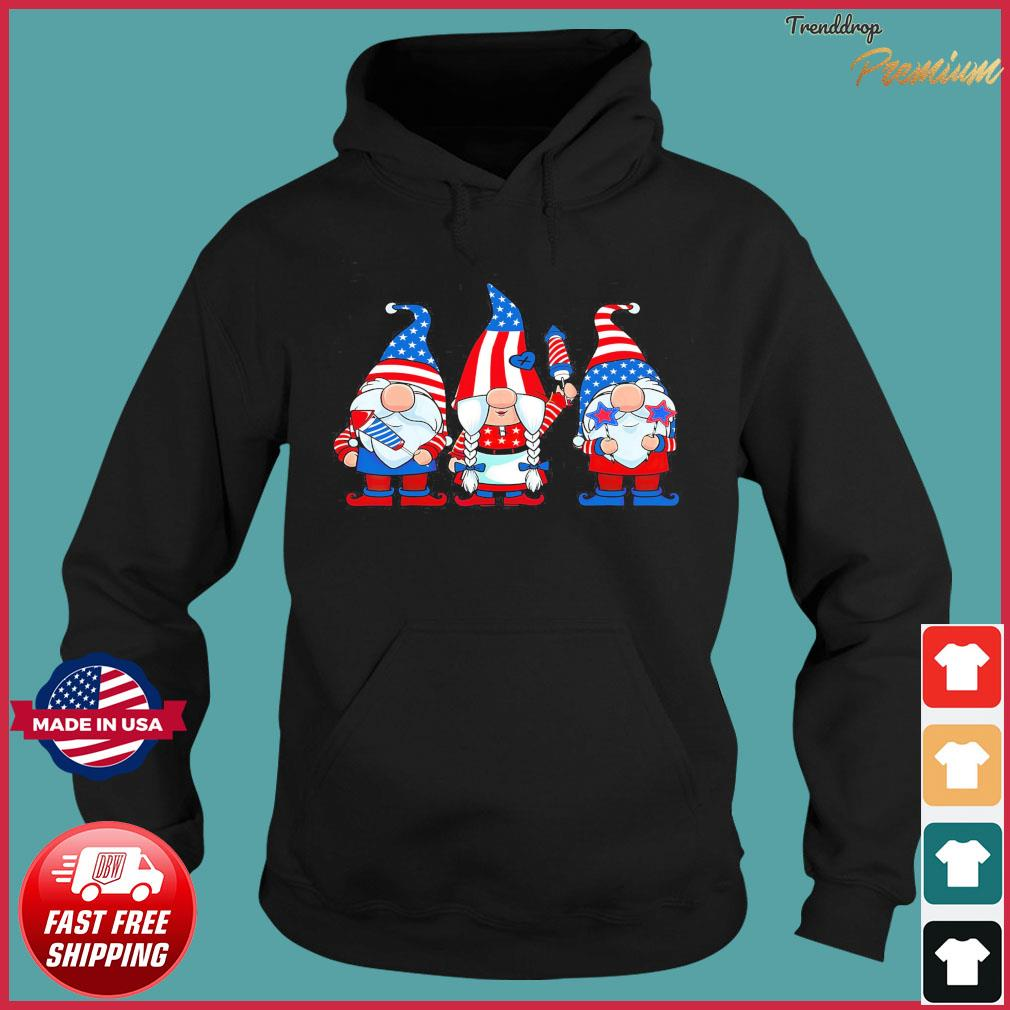 Official Three Patriotic American Gnomes 4th Of July Shirt Hoodie