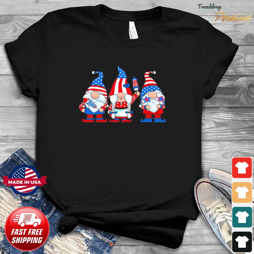 Official Three Patriotic American Gnomes 4th Of July Shirt