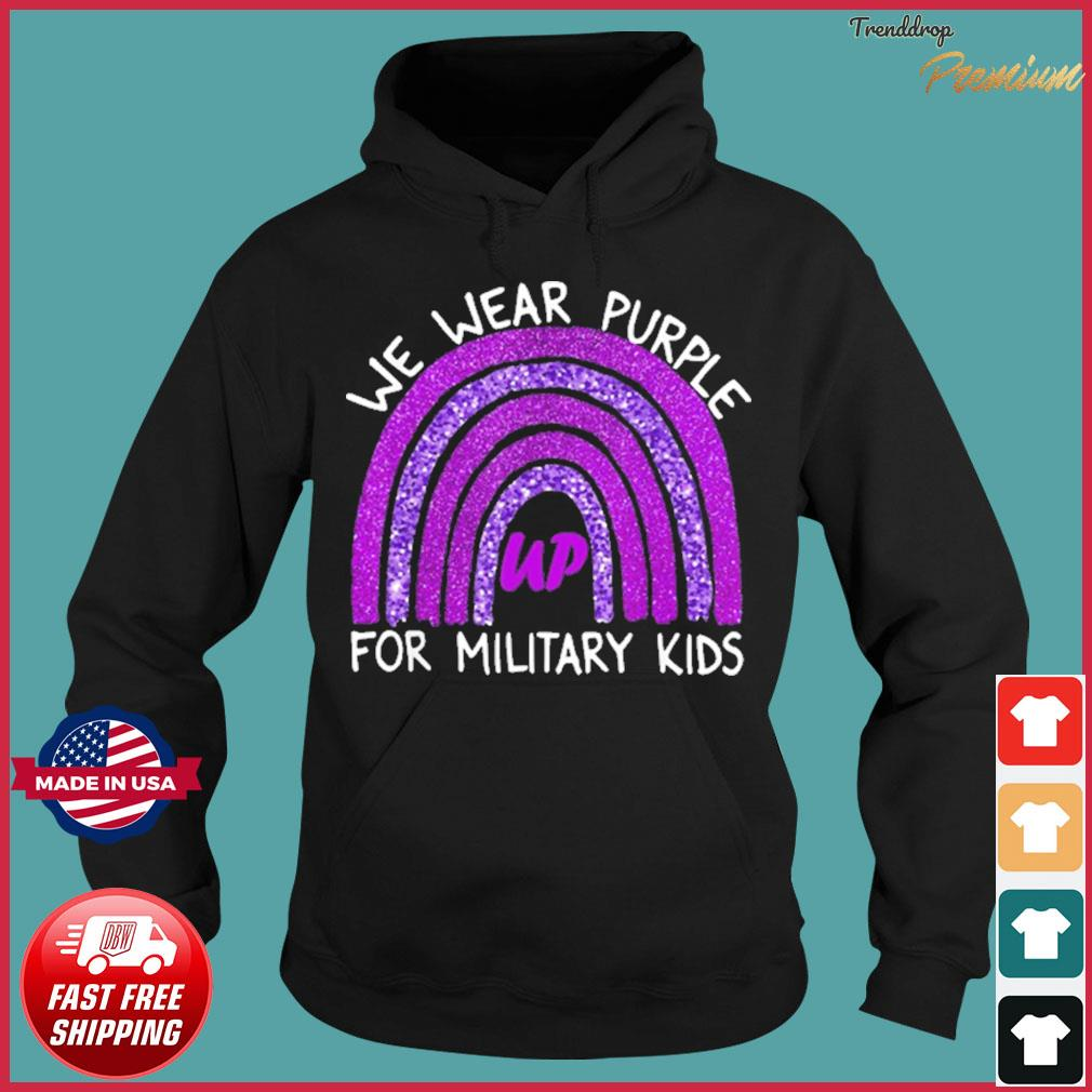 We Wear Purple up for Military Kids Military Child Month Shirt Hoodie