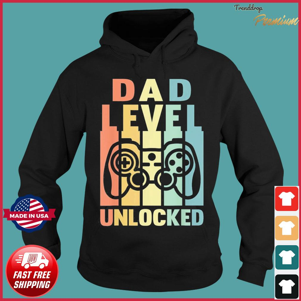 Dad Level Unlocked Gaming Daddy To Be Soon To Be Father T-Shirt Hoodie