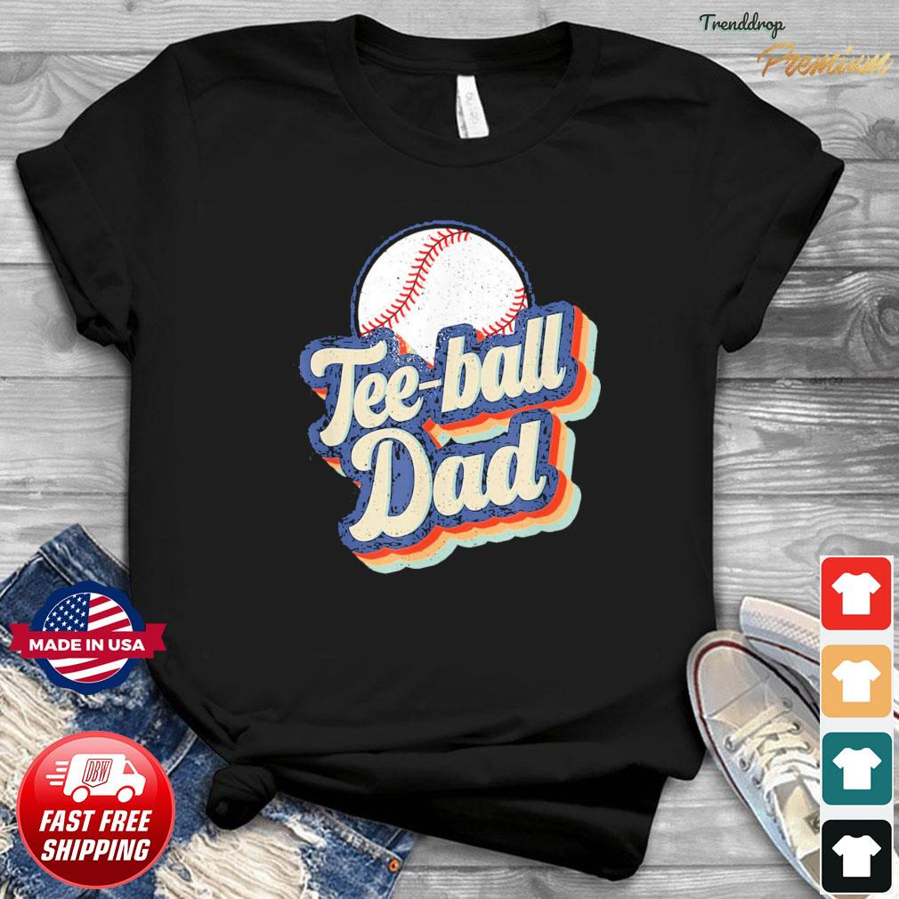 Vintage Teeball Dad Father's Day T-Shirt