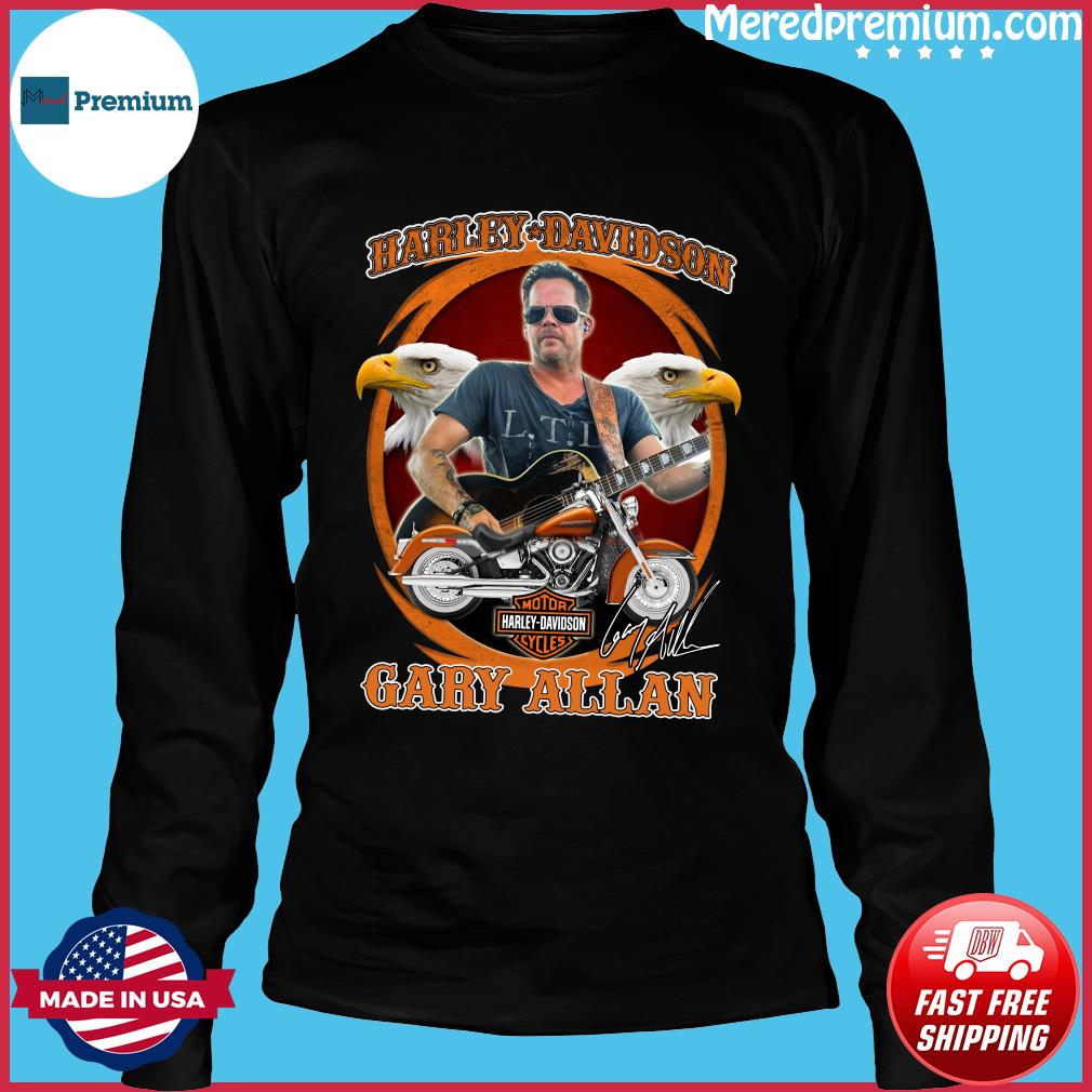Motor Harley Davidson Cycles Gary Allan Signature Shirt Long Sleeve