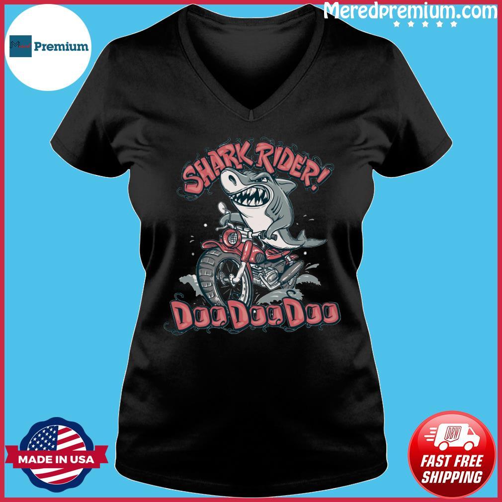 Shark Rider Doo Doo Doo Shirt Ladies V-neck