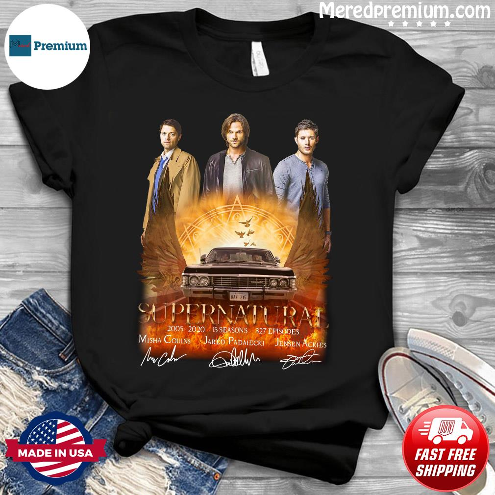 Supernatural 2005 2020 15 Seasons 327 Episodes Signatures Shirt