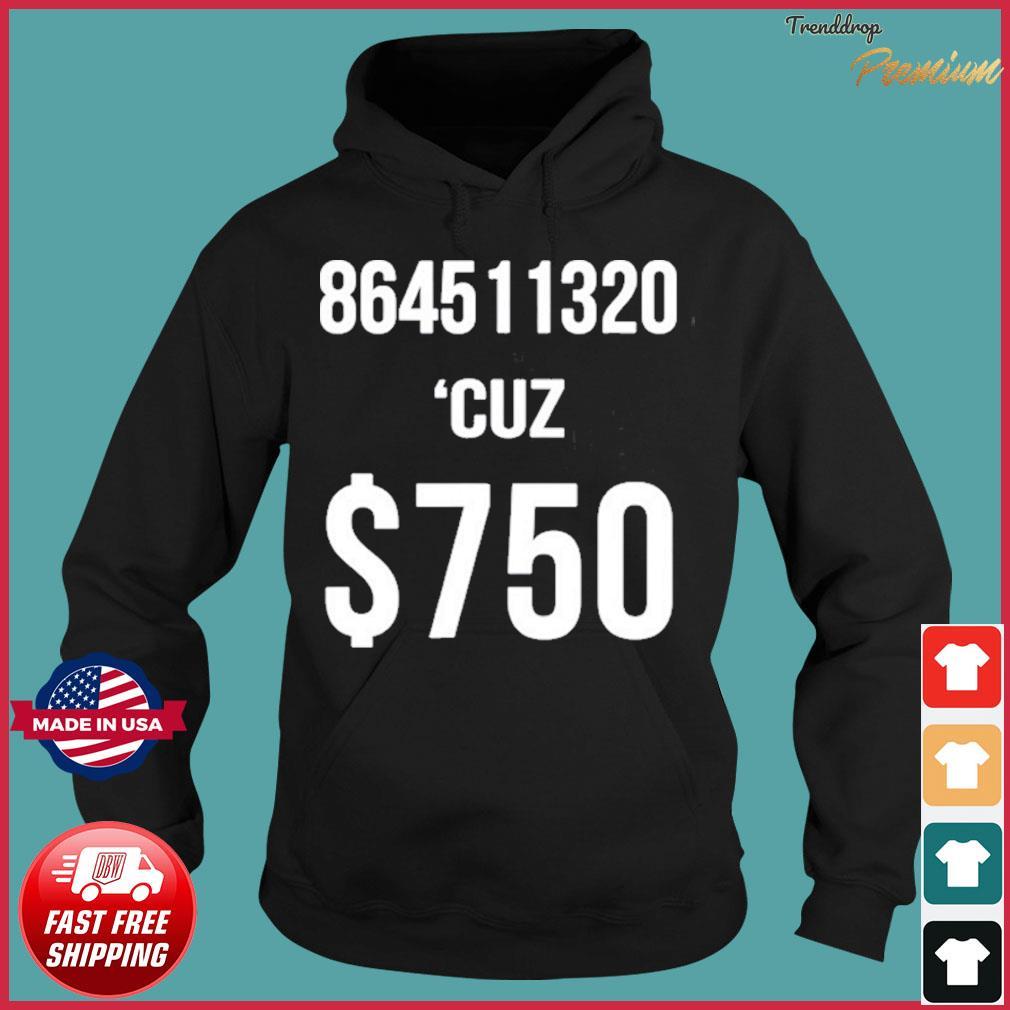 $750 Trump Taxes New York 750 More Reasons to Vote Democrat Shirt Hoodie