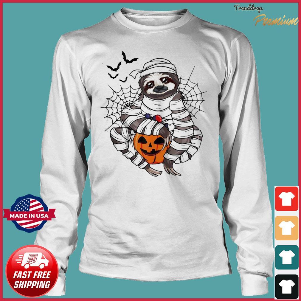 Sloth hug pumpkin Halloween s Long Sleeve