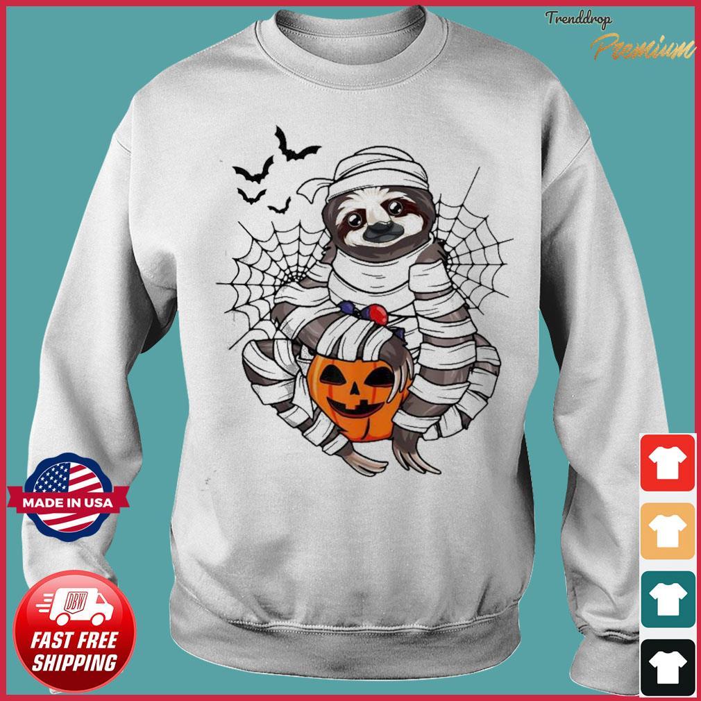 Sloth hug pumpkin Halloween s Sweater