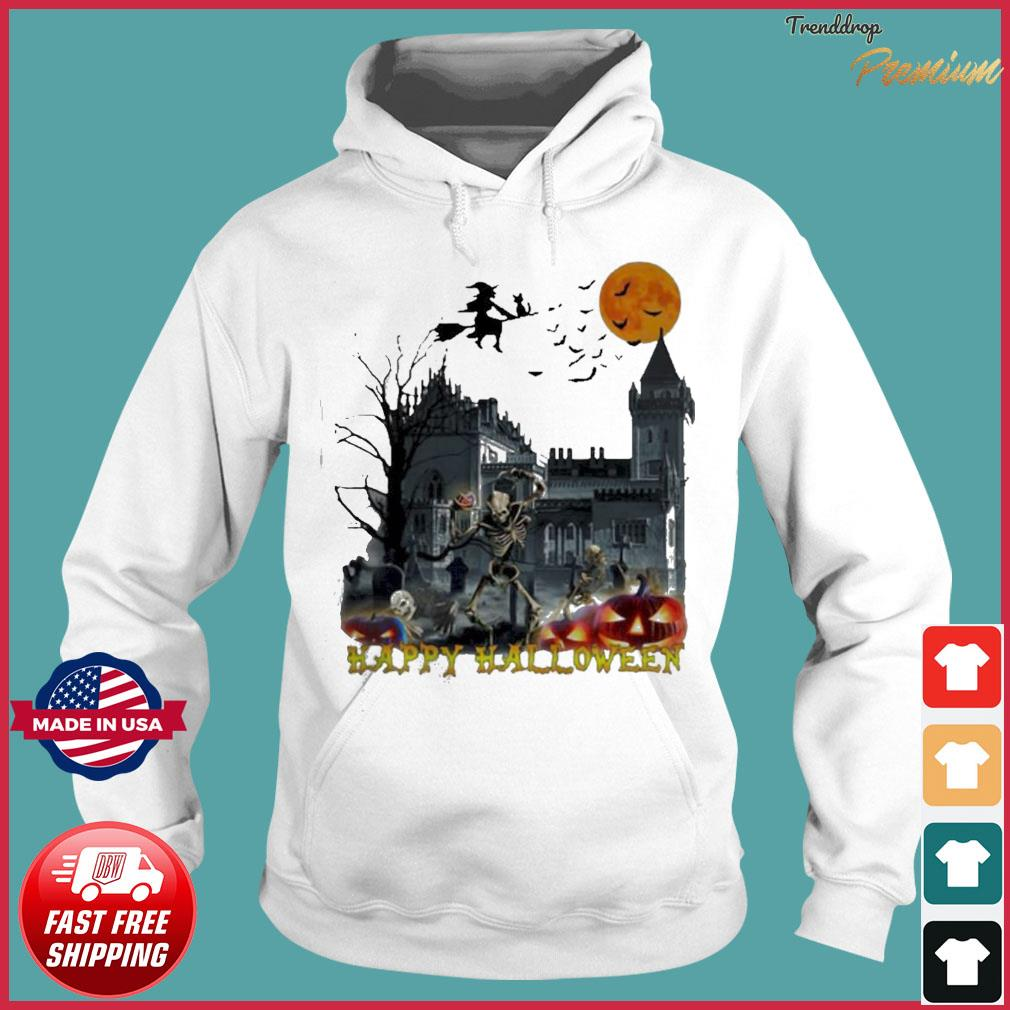 Witch and skeleton Happy Halloween s Hoodie