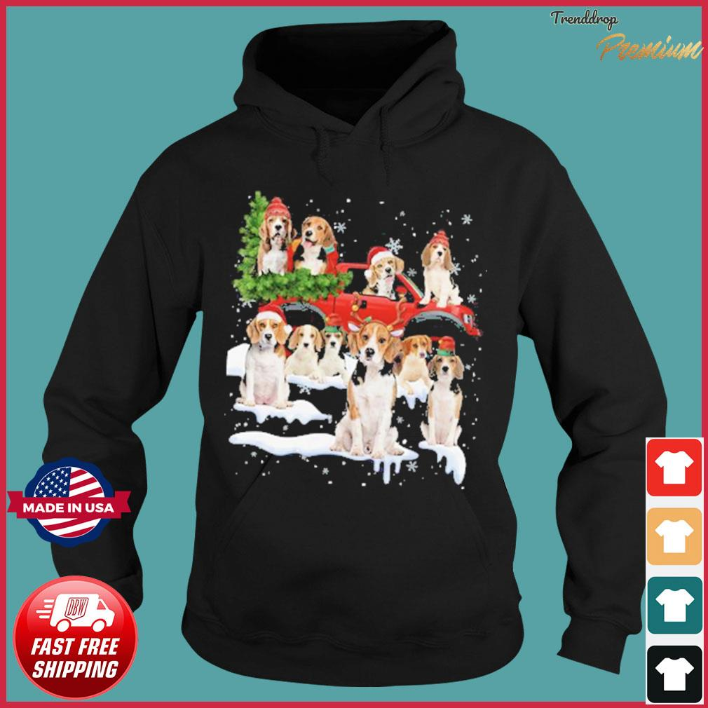 Bulldog Riding Truck Merry Christmas 2020 Sweats Hoodie