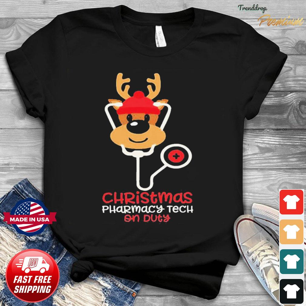 Christmas Pharmacy Tech On Duty Reindeer Nurse shirt