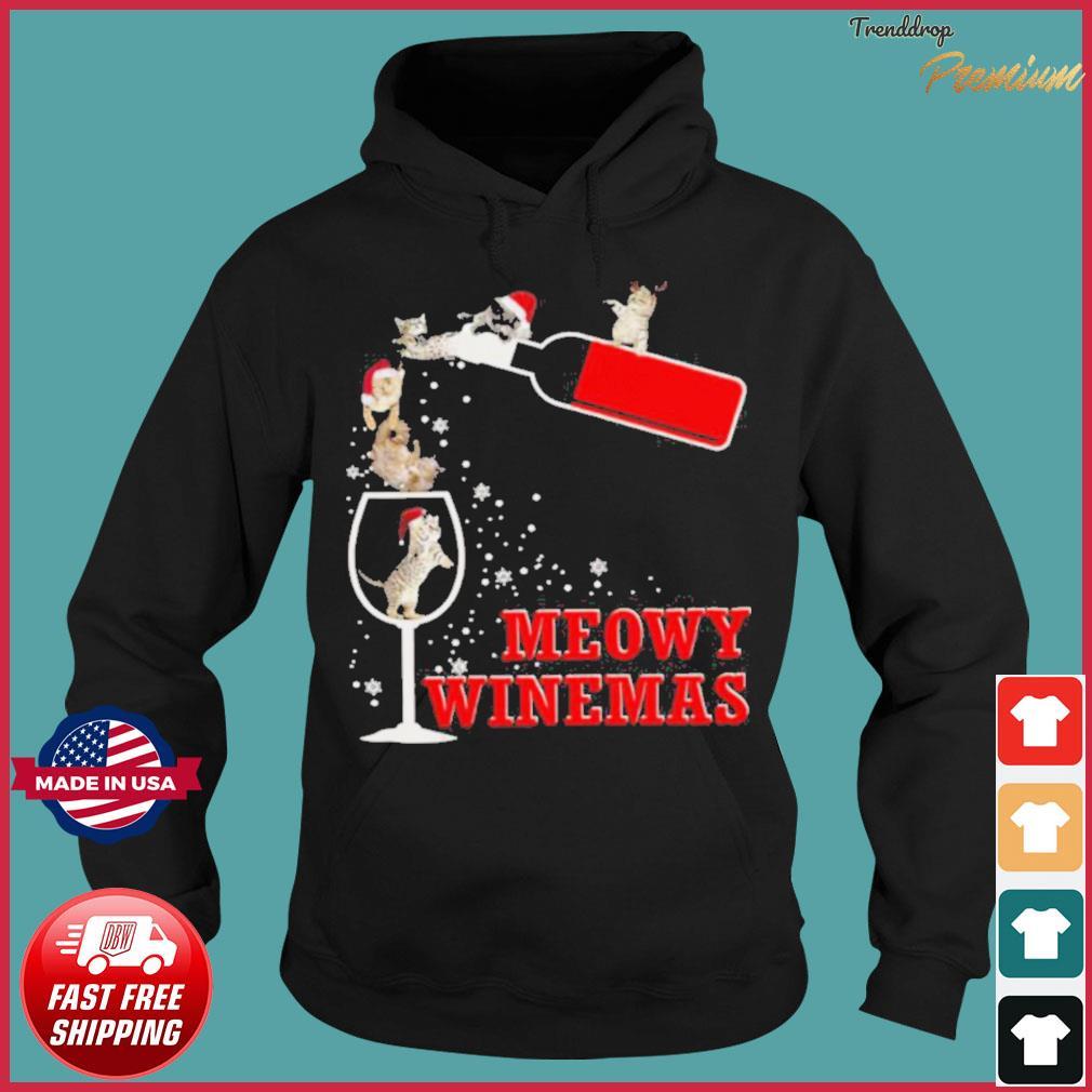 Meowy Winemas Christmas s Hoodie