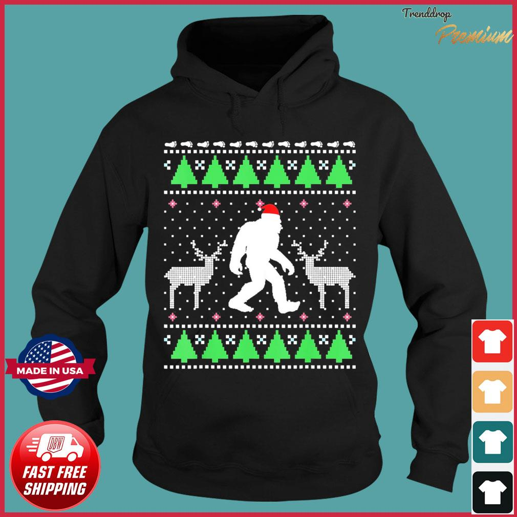 Santa Bigfoot And Reindeer 2020 Ugly Christmas Sweats Hoodie