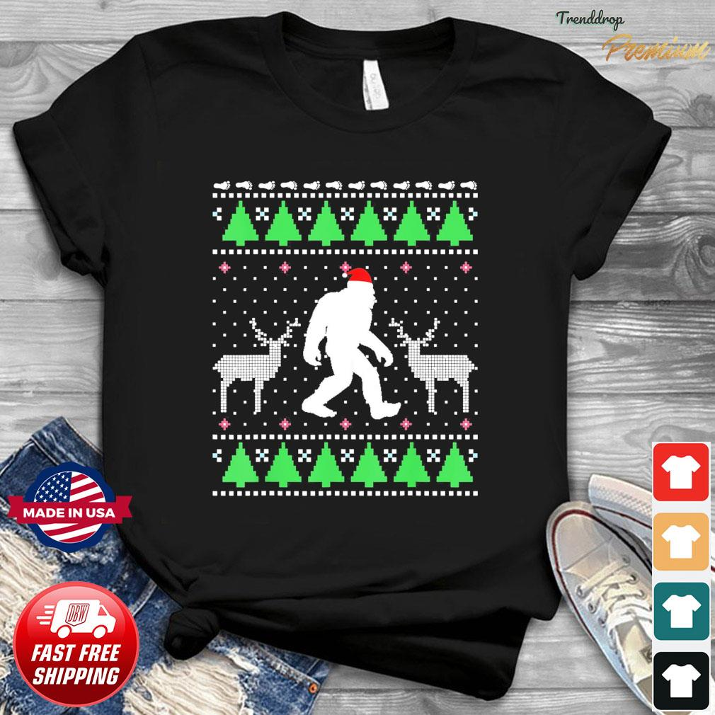 Santa Bigfoot And Reindeer 2020 Ugly Christmas Sweatshirt