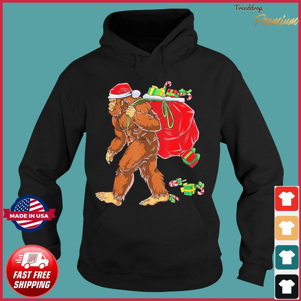 Santa Bigfoot Christmas Sweats Hoodie