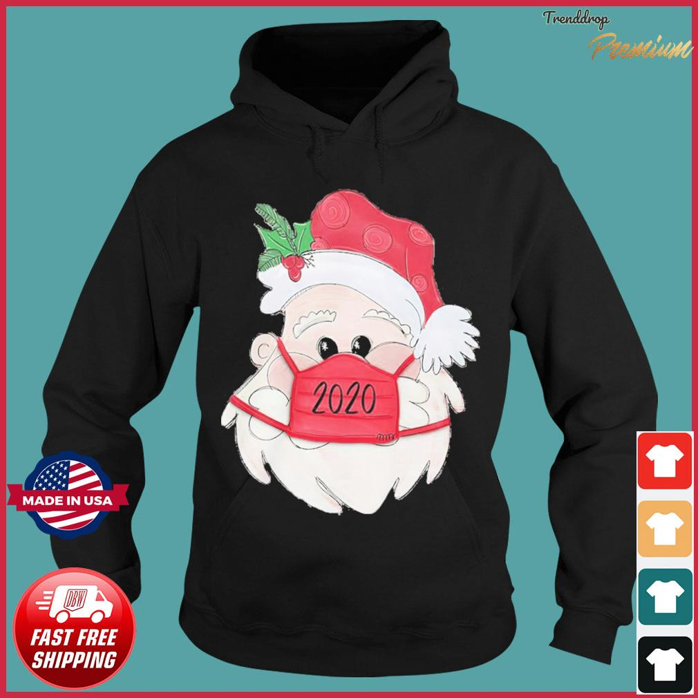 Santa Claus Face Mask 2020 Christmas Sweats Hoodie