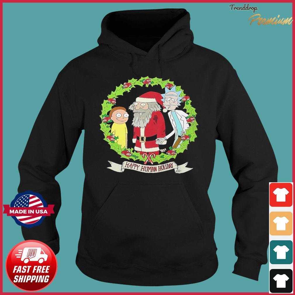 Rick And Morty Santa Happy Human Holiday Christmas Sweats Hoodie