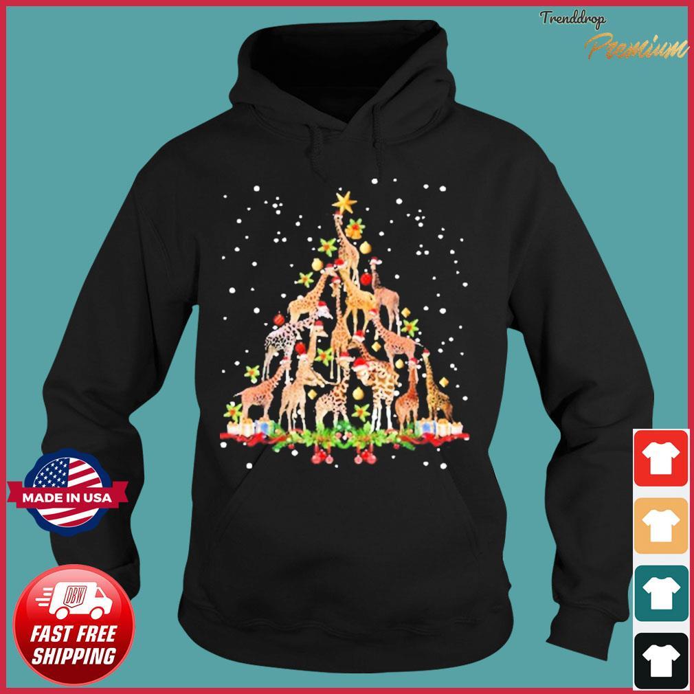 Santa Giraffes Animal Christmas Tree 2020 Sweats Hoodie