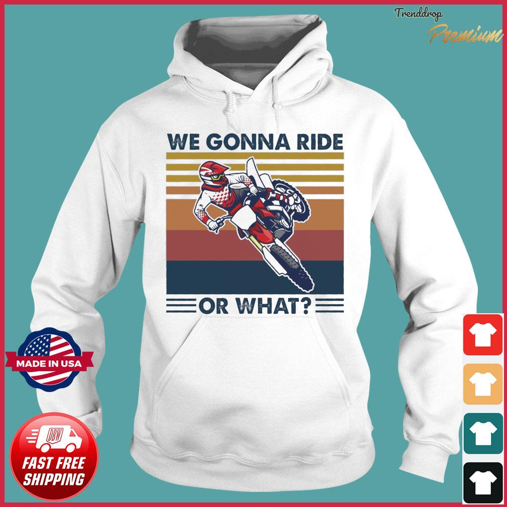 We Gonna Ride Or What Vintage Shirt Hoodie